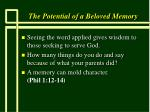 the potential of a beloved memory26