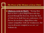the power of the memory of jesus christ40