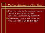 the power of the memory of jesus christ43