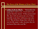 the power of the memory of jesus christ44