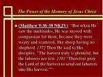the power of the memory of jesus christ57