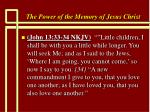 the power of the memory of jesus christ61