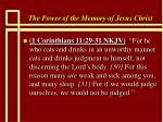 the power of the memory of jesus christ70
