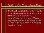 the power of the memory of jesus christ72