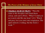 the power of the memory of jesus christ76