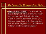 the power of the memory of jesus christ81