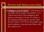 the power of the memory of jesus christ85