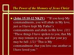 the power of the memory of jesus christ88