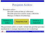 persistent archive