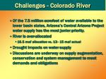 challenges colorado river