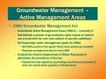 groundwater management active management areas