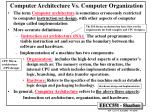 computer architecture vs computer organization