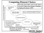 computing element choices3