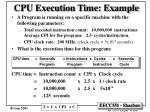 cpu execution time example