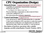 cpu organization design