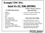 example cisc isa intel ia 32 x86 80386