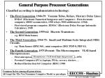 general purpose processor generations