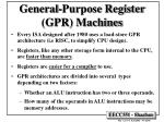 general purpose register gpr machines