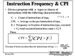 instruction frequency cpi