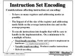 instruction set encoding