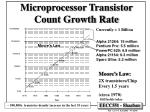 microprocessor transistor count growth rate