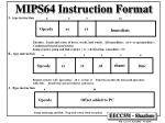mips64 instruction format