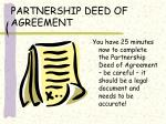 partnership deed of agreement