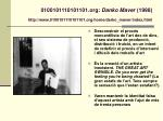 0100101110101101 org danko maver 1998 http www 0100101110101101 org home darko maver index html