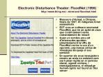electronic disturbance theater floodnet 1998 http www thing net rdom ecd floodnet html
