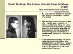 heath bunting i olia lialina identity swap database 1999 http www teleportacia org swap
