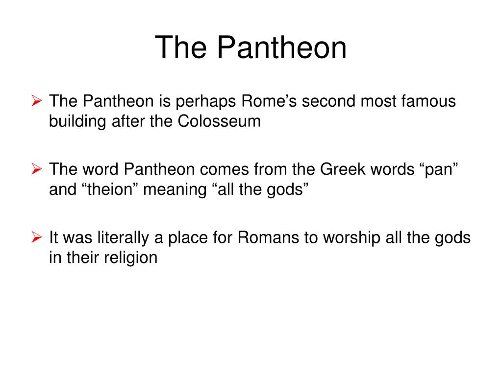 the pantheon l.