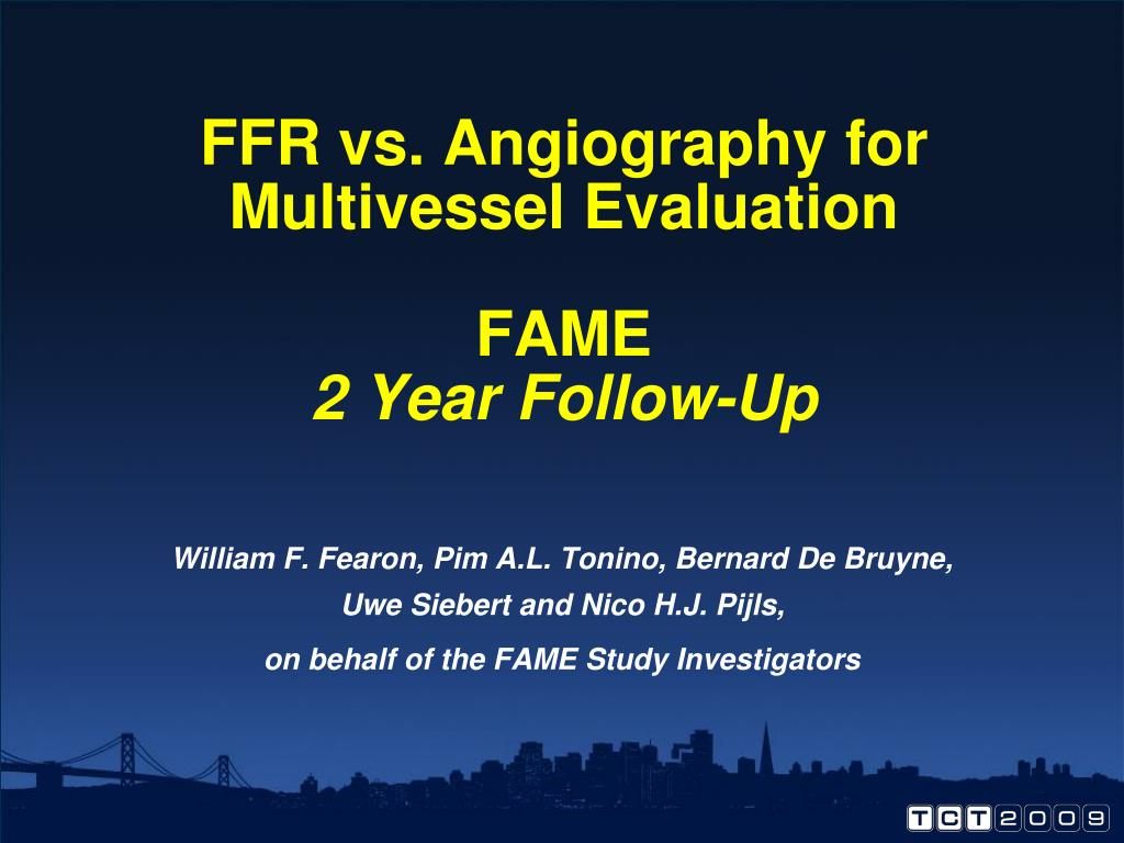 ffr vs angiography for multivessel evaluation fame 2 year follow up l.