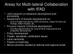 areas for multi lateral collaboration with ifad