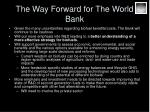 the way forward for the world bank