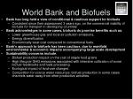 world bank and biofuels