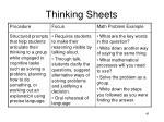thinking sheets
