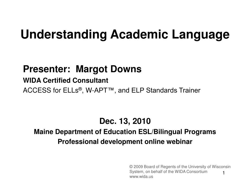 understanding academic language l.
