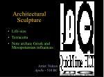 architectural sculpture
