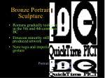 bronze portrait sculpture