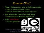 etruscans who