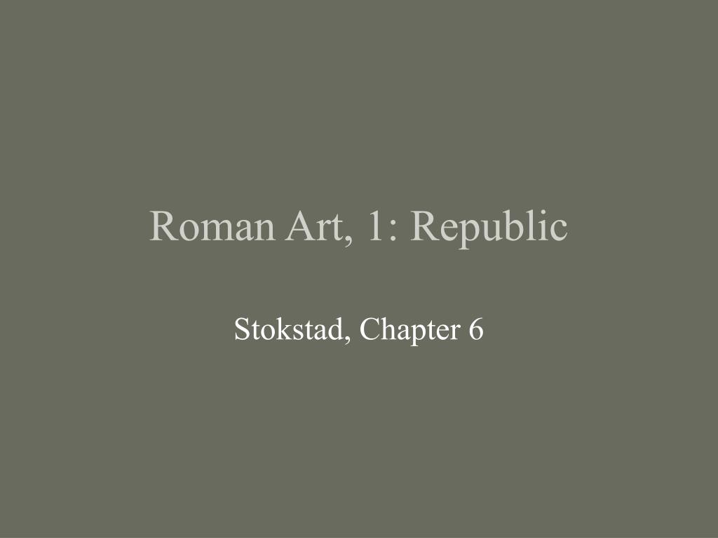 roman art 1 republic l.