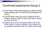 confirmed statements group 2