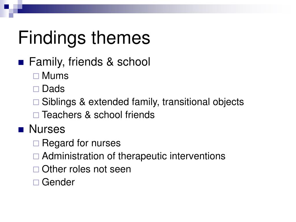 Findings themes