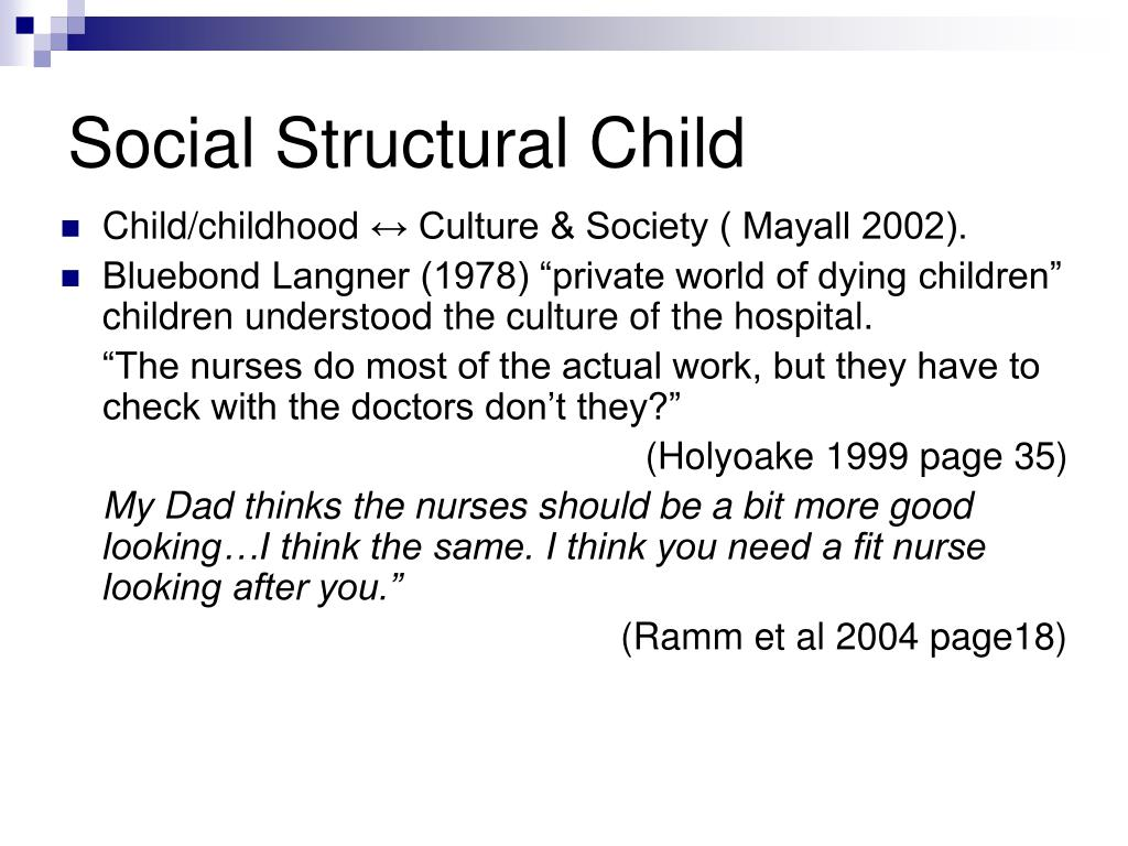 Social Structural Child