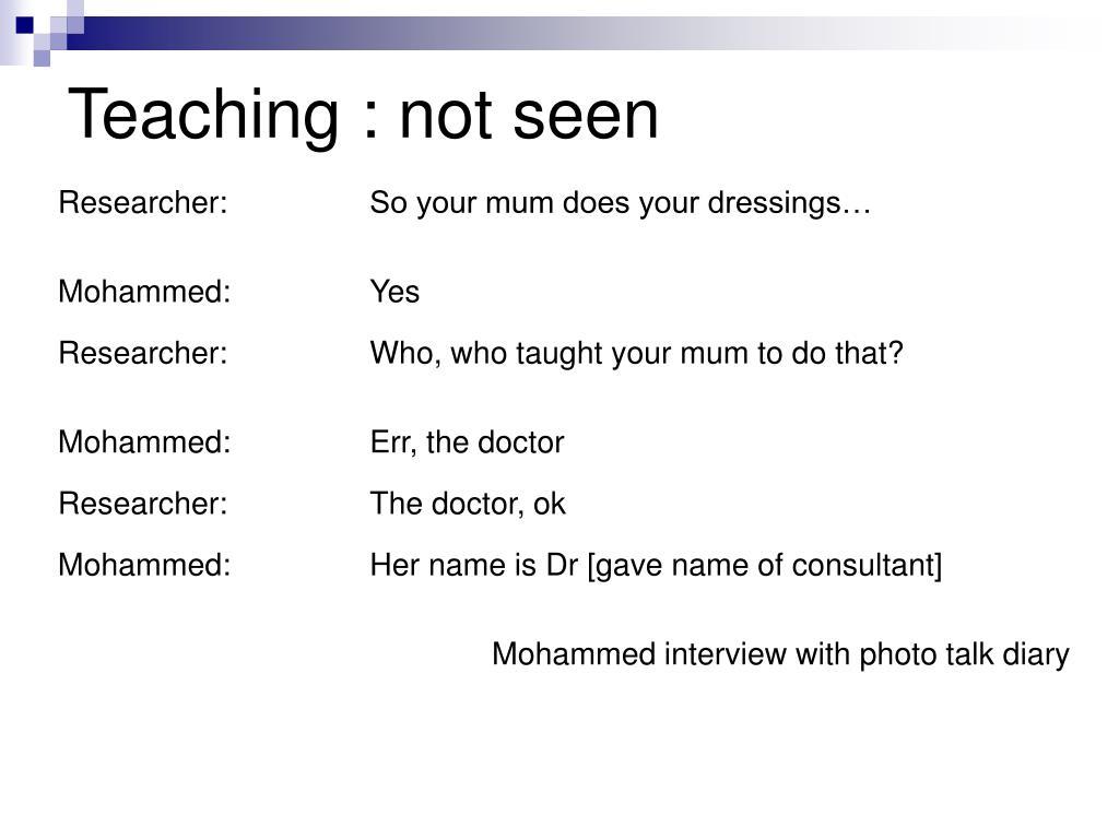 Researcher: