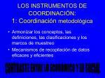 los instrumentos de coordinaci n 1 coordinaci n metodol gica