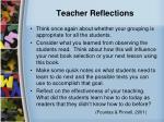 teacher reflections