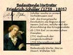 bedeutende vertreter friedrich schiller 1759 1805