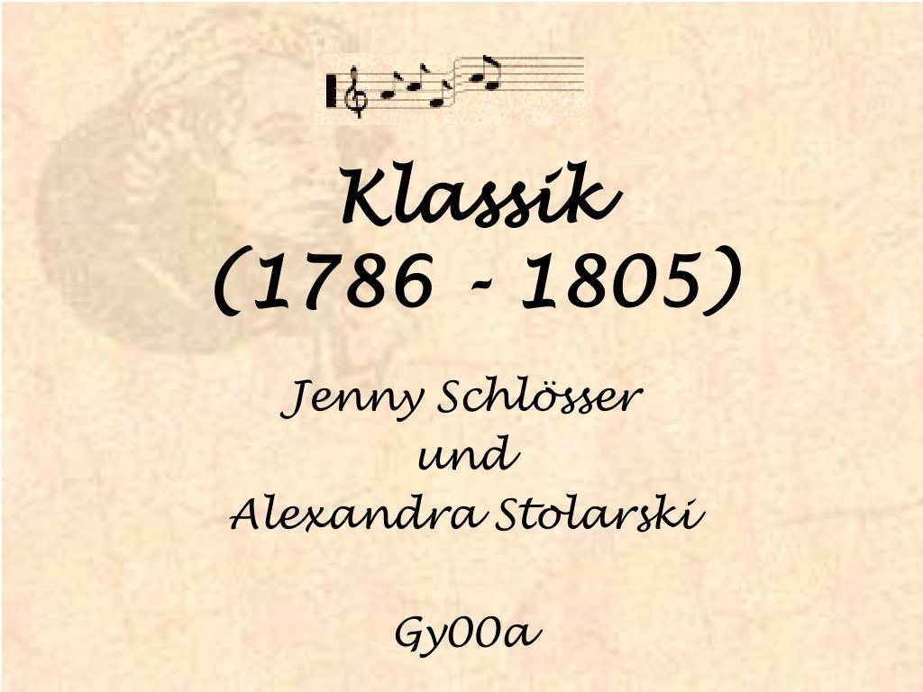 klassik 1786 1805 l.