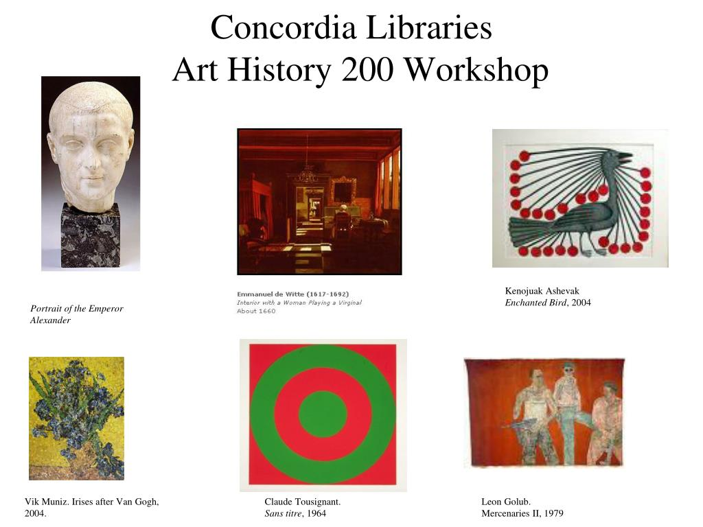 concordia libraries art history 200 workshop l.